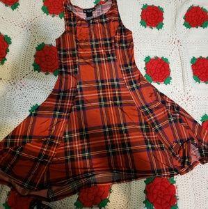Size small super soft stretch plaid dress